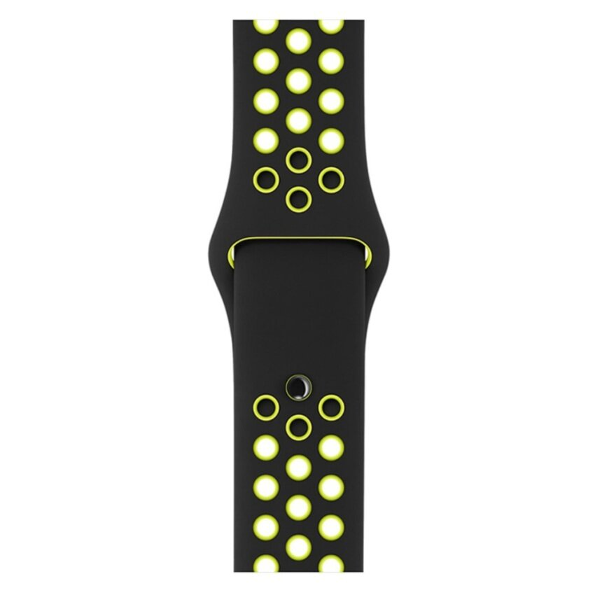 Apple Acc Watch 42mm Black/Volt Nike Sport Band - S/M & M/L