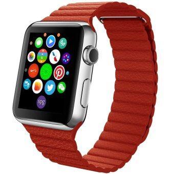 ราคา Apple Watch Magnetic Band 42mm Leather Style Red