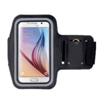 Armband สายรัดแขนใส่โทรศัพท์ออกกำลังกาย samsung galaxy s7 edge (สีดำ)