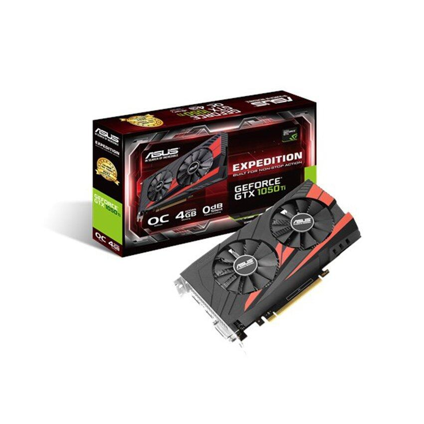 ASUS การ์ดจอ EX GTX1050TI O4G GDDR5 (OC Edition eSports Gaming graphics card) ...