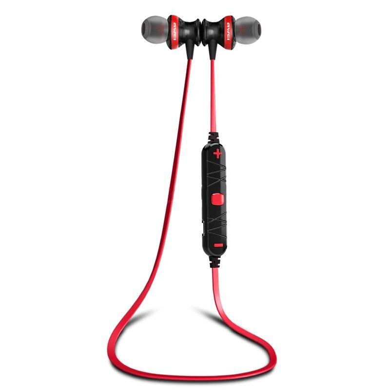 IQ AWEI A980BL Wireless Sports Earphone For Call And Music (Black/Red)