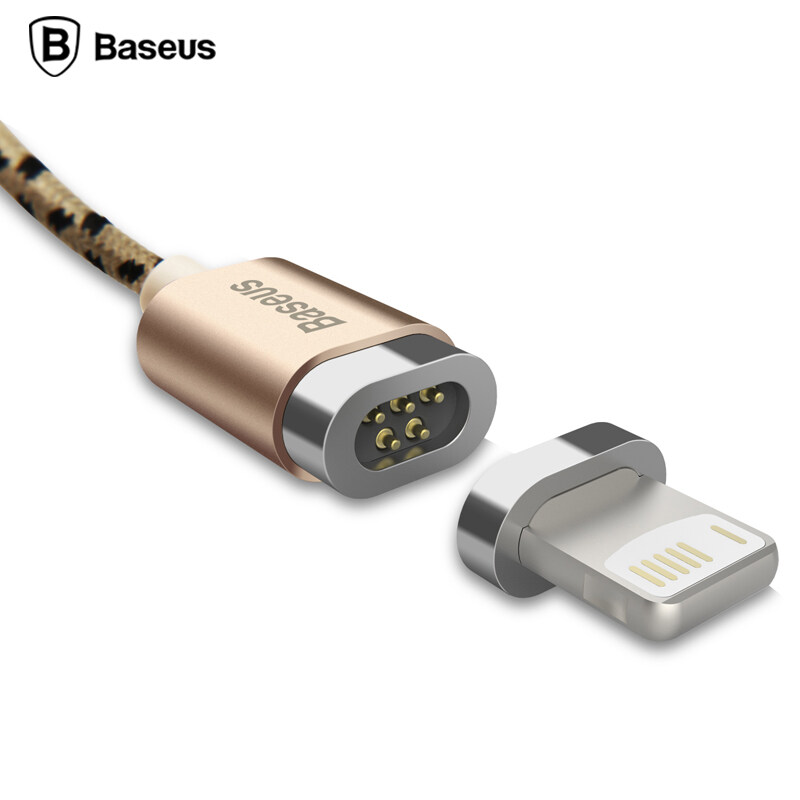 Baseus Magnetic Micro USB Cable Adapter Data Sync Charging Cable For iPhone 5S SE 6S Plu