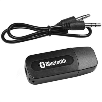 BEST USB Bluetooth Audio Music Wireless Receiver Adapter 3.5mm Stereo Audio (Black)