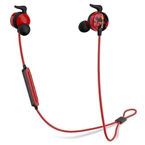 Bluedio AI (Air) Bluetooth 4.2 Wireless Sports Headphones, Sweatproof Running Earbuds with Mic (Red)