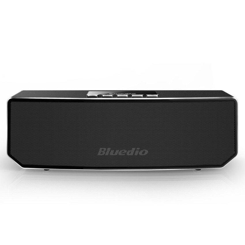 BLUEDIO CS4 3D Sound Wireless Music Player Bluetooth Speaker for iPhone 7, Phones and Tablets - Black - intl