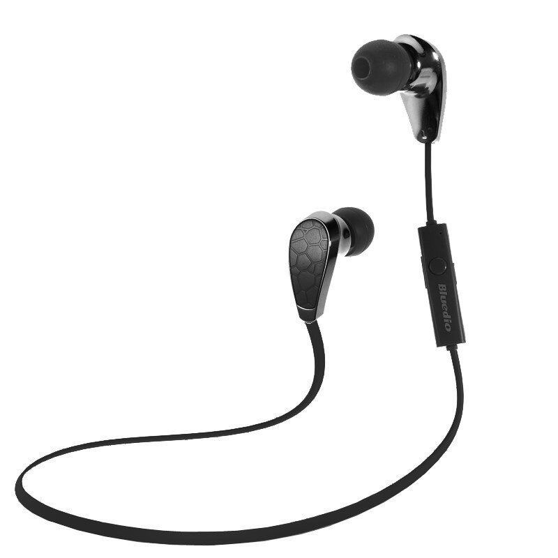 Bluedio Stereo Wireless Bluetooth V4.1 Sports Headset with Mic (Black)