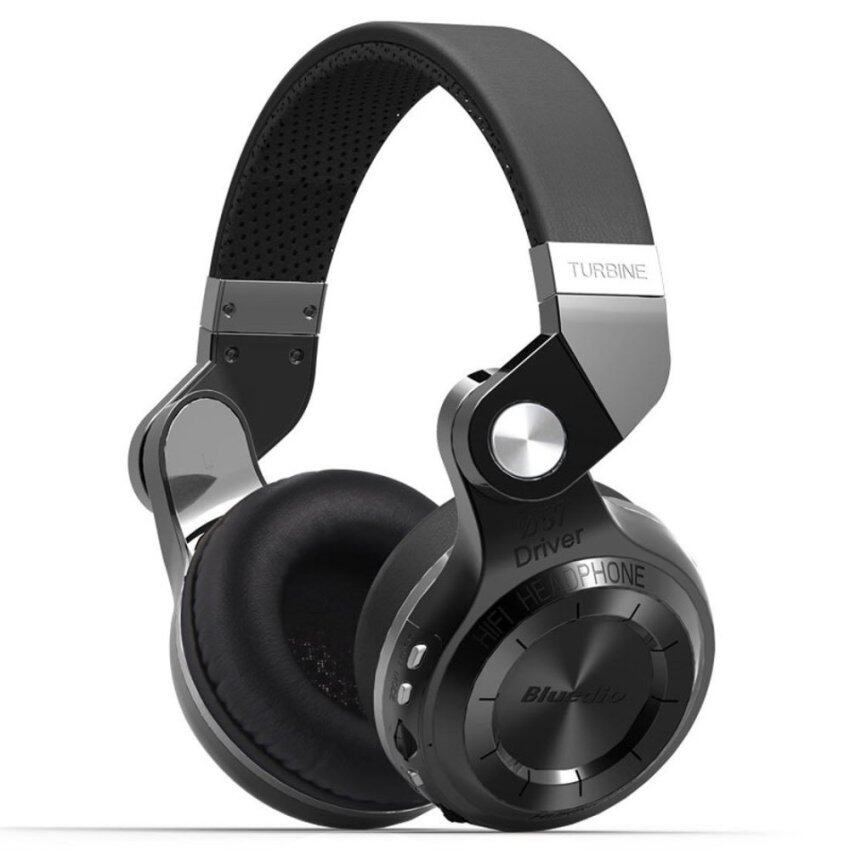Bluedio T2+Bluetooth 4.1 HiFi Stereo Headphone - Black
