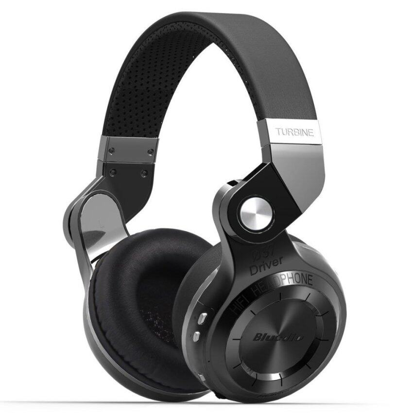 Bluedio T2s Turbo Wireless Bluetooth 4.1 Stereo Headphone Noise Canceling Headset With Mic High Bass Quality (Black) - intl