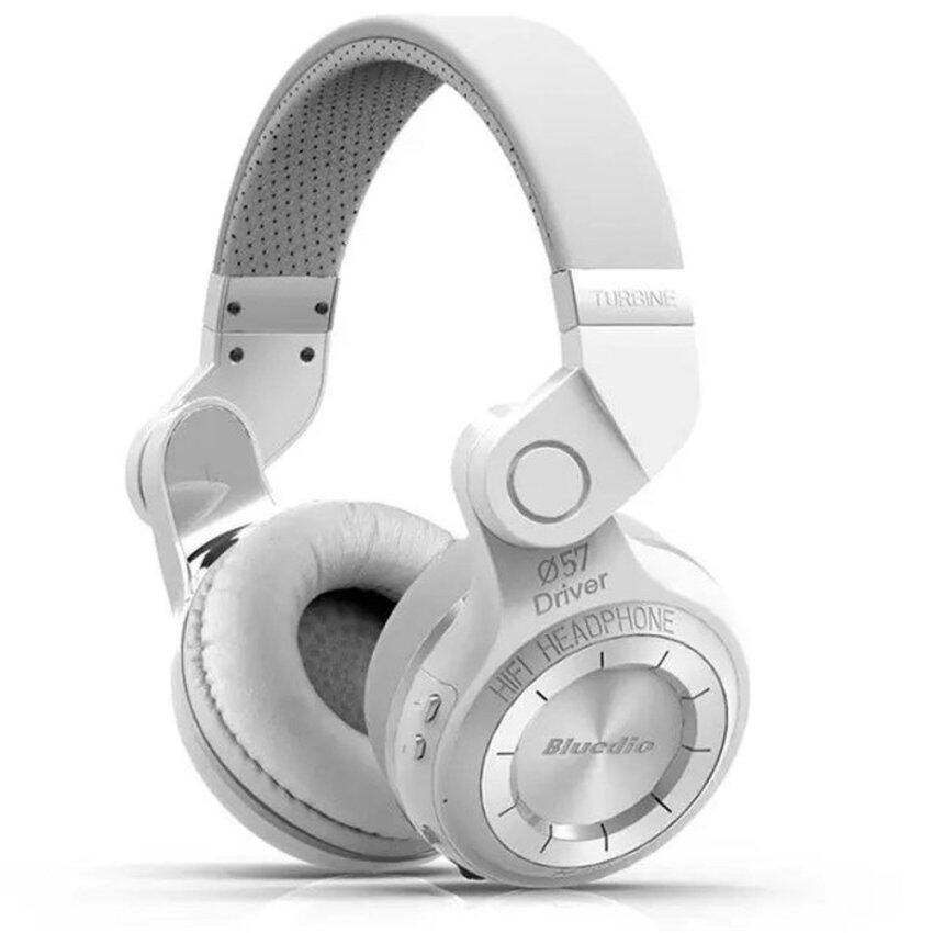 Bluedio T2s Turbo Wireless Bluetooth 4.1 Stereo Headphone Noise Canceling Headset with Mic High Bass Quality (White) - intl