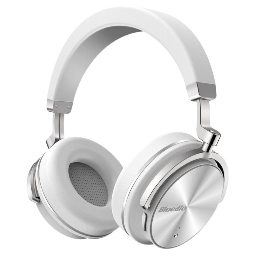 Bluedio T4 (Turbine) Active Noise Cancelling Over-ear Swiveling Wireless Bluetooth Headphones with Mic (White)-intl