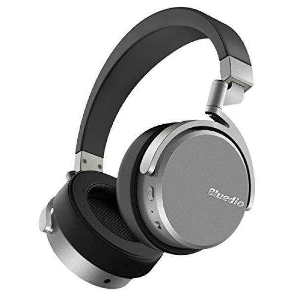 ขาย Bluedio Vinyl Stereo Rotary On-ear Wireless Bluetooth 4.1 Headphone with Mic (Black and Silver)