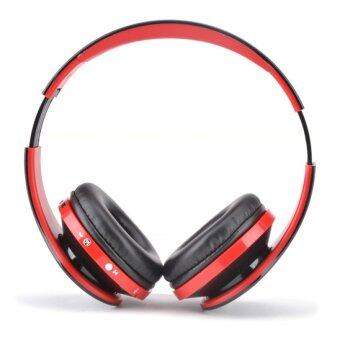Bluetooth 4.0 Stereo Bluetooth Wireless Headphones With Call Mic(Red) - Intl