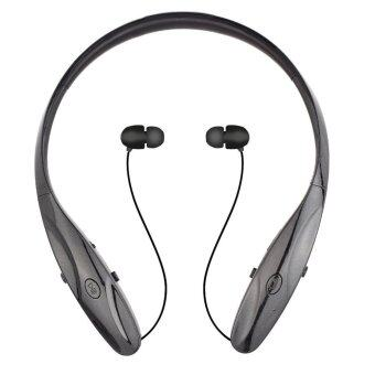 Bluetooth Headphone HBS-950 Hand-free Sports Earphone Retractable Earbuds for Bluetooth Devices (Black)