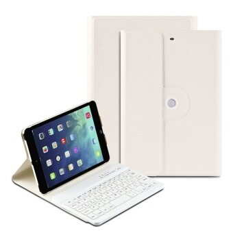 Bluetooth Keyboard Case with 360 Degree Rotation and Multi-angel Stand for iPad Mini 1 2 3 (White) - Intl
