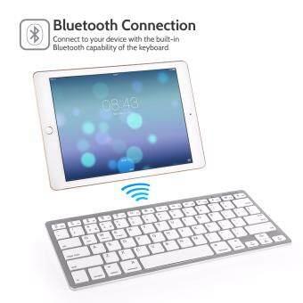 แป้นพิมพ์บลูทูธไร้สาย bluetooth keyboard for ipad iphone ios ภาษาไทย (White)