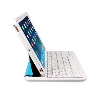 Bluetooth Keyboard Ultrathin Protective Case With Stand For iPad Air 1(Blue) - Intl