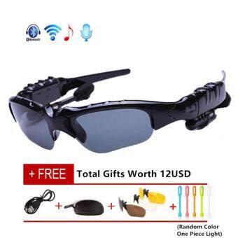 Bluetooth Sunglasses Sun Glasses Wireless Bluetooth Headset Stereo Headphone with Mic Handsfree - intl