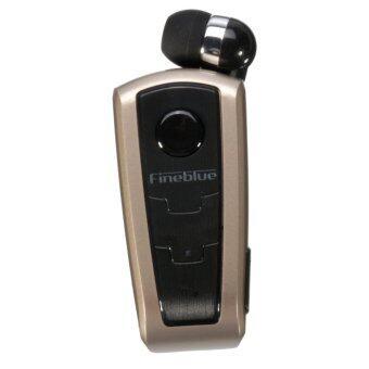 Bluetooth Wireless Handsfree Clip Earphone Bluetooth For Phone (Gold) - intl