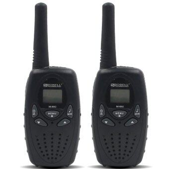 Bobell 22 Channel FRS/GMRS 2 Way Radio UHF Handheld Walkie Talkie Pack of 2 (Black) - Intl
