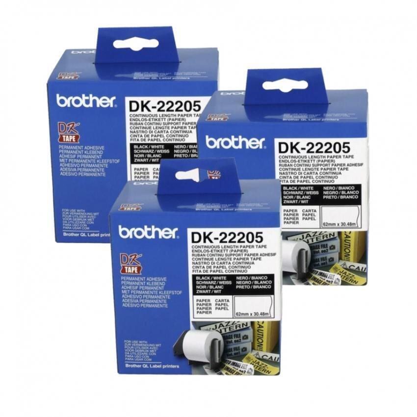 Brother เทปกระดาษต่อเนื่อง รุ่น DK-22205 3 ม้วน