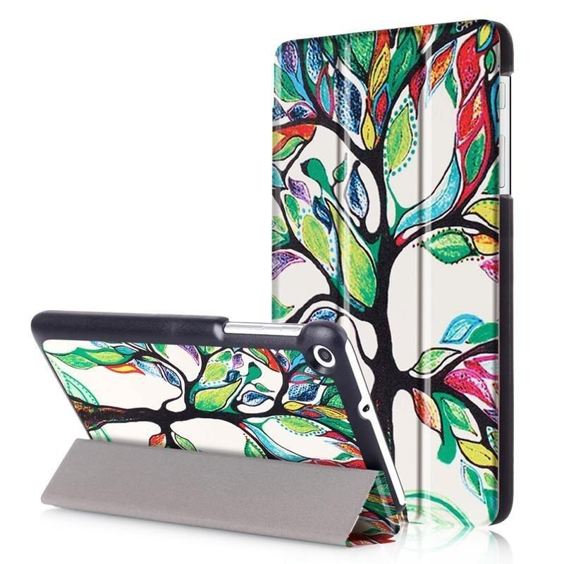 BYT Colorful Printing Tablet Leather 3 Folio Flip Cover Case for Huawei MediaPad T2 7.0  ...