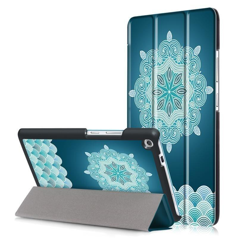 BYT Colorful Printing Tablet Leather 3 Folio Flip Cover Case for Lenovo Tab3 7 Plus - in ...