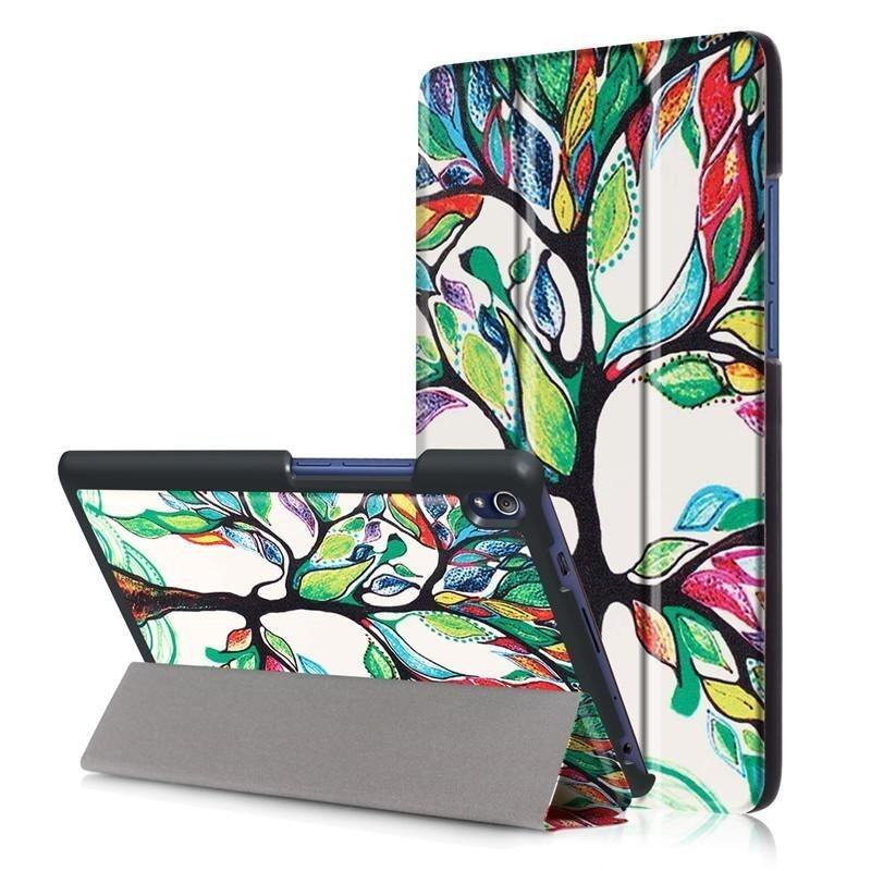 BYT Colorful Printing Tablet Leather 3 Folio Flip Cover Case for Lenovo Tab3 8 Plus / P8 ...