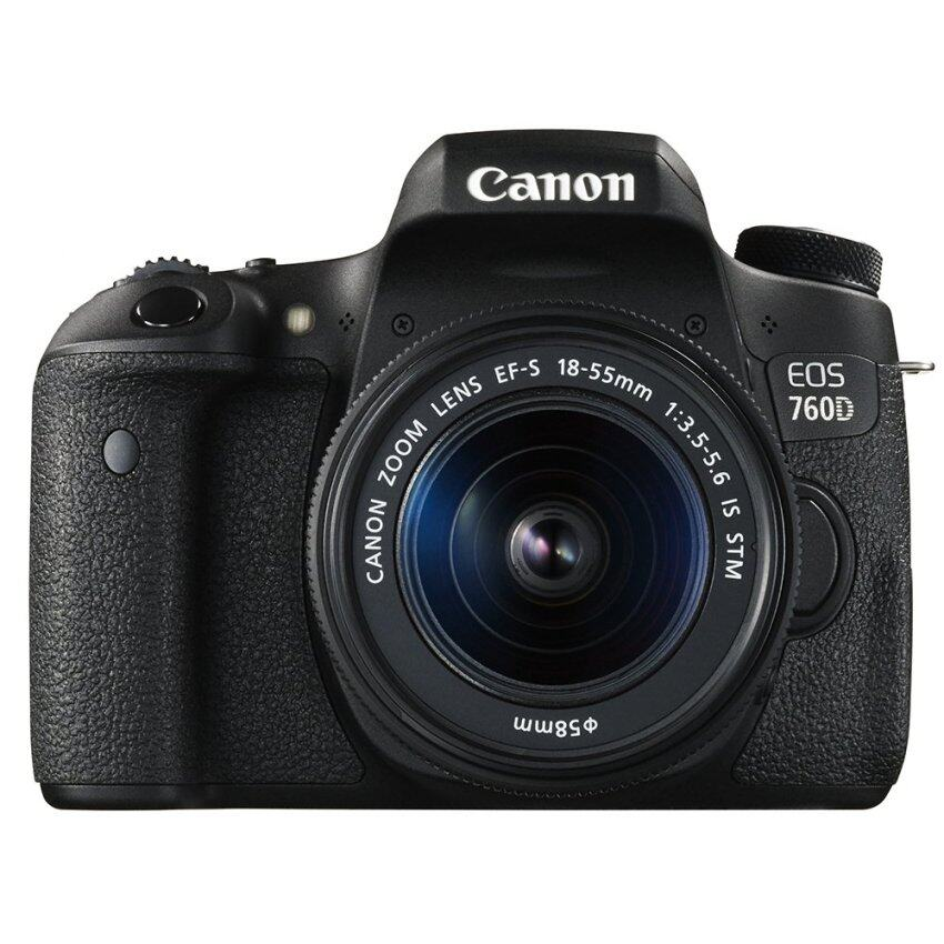 Canon 760D + Lens 18-55mm stm (Black)