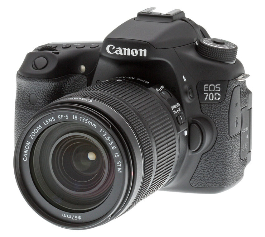 Canon EOS 70D + Lens 18-135 IS STM (BLACK) ...