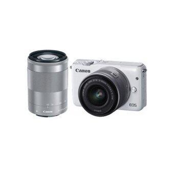 Canon EOS M10 Twin Kit (EF-M 15-45mm STM  55-200mm STM) White