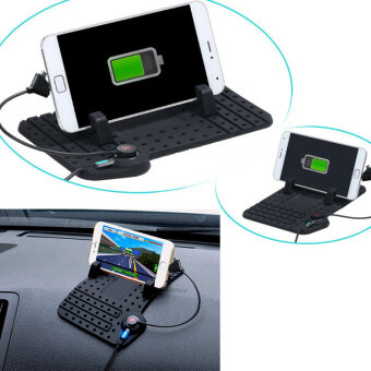 Car Holder Dashboard Stand USB Mount Charger Cradle for Smart Phone - intl