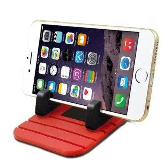 Car Mount Silicone Pad Non-slip Mat Phone Car Holder Stand Cradle Dock (Red/Black)