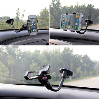 Car Windshield Suction Cup car Holder GPS 360° Rotating Mobile Phone Holder - intl