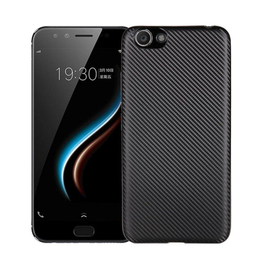 Carbon fiber imitation metal super soft silicone Case For VIVO Y53 2017(black) - intl ...