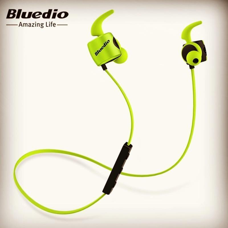 China Brand Bluedio TE Bluetooth 4.1 Wireless Sports Headphones HiFi Sweatproof In-ear Earphone 3D Sound Aluminum Alloy Fashionable Earbuds Headset with Mic - intl