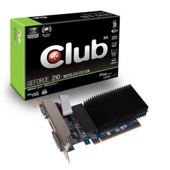 Club3D GeForce 210 Passive 1024 MB DDR3 PCI Express 20 DVI/HDMI/VGA Graphics Card CGNX212L Black - Intl