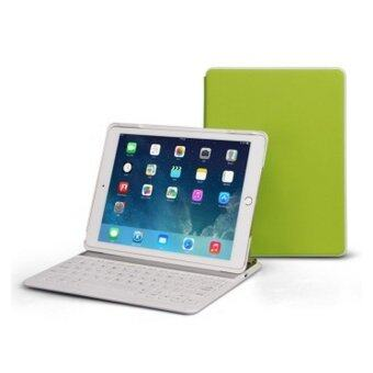 Colorful Backlight Bluetooth Keyboard Ultrathin Protective Case With Stand For iPad Air 2 (Green)(INTL)