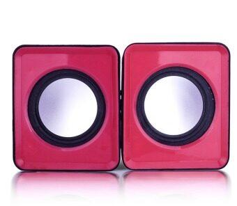 Computer USB Mini Speaker (Pink)