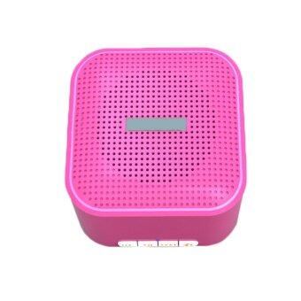 Cube Rechargeable Portable Bluetooth Wireless Speaker Hands-Free Call Speaker Music System (Pink)
