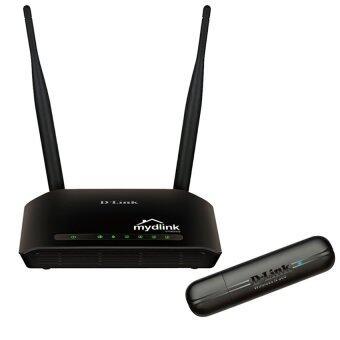 D-Link Wireless 300 LAN Cloud Routers DIR-605L + D-Link USB Wireless 300 LAN Network Adapters DWA-132