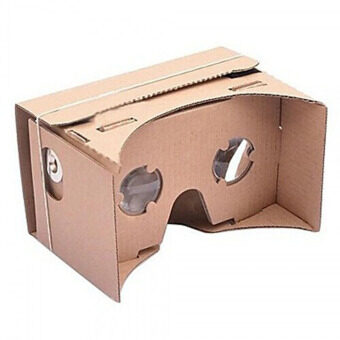 DIY Google Cardboard 3D Viewing Glasses Brown