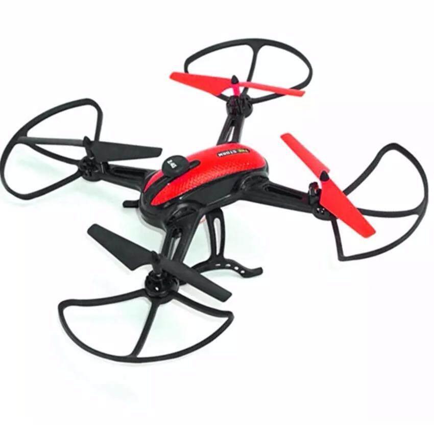 DRONE โดรน the strome Drone red ติดกล้องความละเอียดสูง WiFi พร้อมระบบถ่ายทอดสดแบบ Realtime(NEW มีระบบ ล็อกความสูงได้) สีแดง