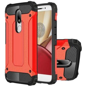 Dual Layer Case For Lenovo Moto M Hybrid TPU PC Heavy Duty Armor Shock Absorbing Protective Cover Red - intl