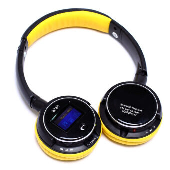 Easybuy Stereo FM Radio Bluetooth MP3 Screen HeadsetMicrophone3.5mm (Yellow) - intl