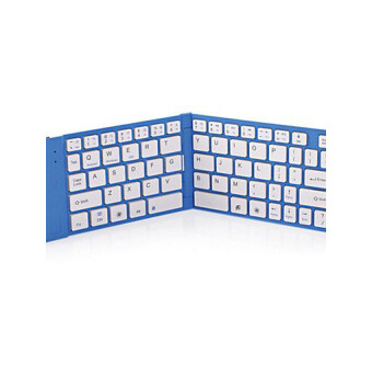 Folding Bluetooth mouse and keyboard (blue) - intl