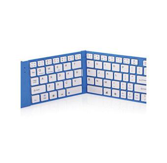 Folding Bluetooth mouseandkeyboard (blue) - intl
