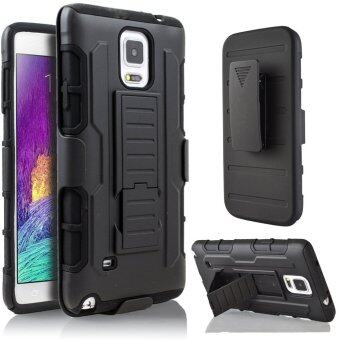 for Samsung Galaxy Note 4 Hybrid Full Protection High Impact DualLayer Holster Case with Kickstand and Belt Clip
