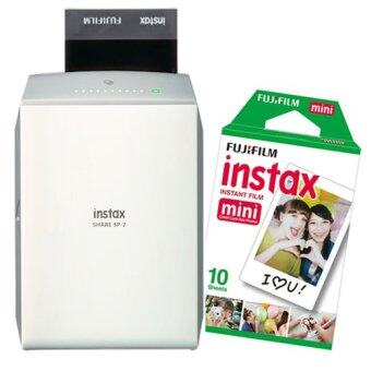 Fujifilm instax SHARE SP-2 (สีเงิน) + INSTAX Film mini Pack-1 (10Sheets)