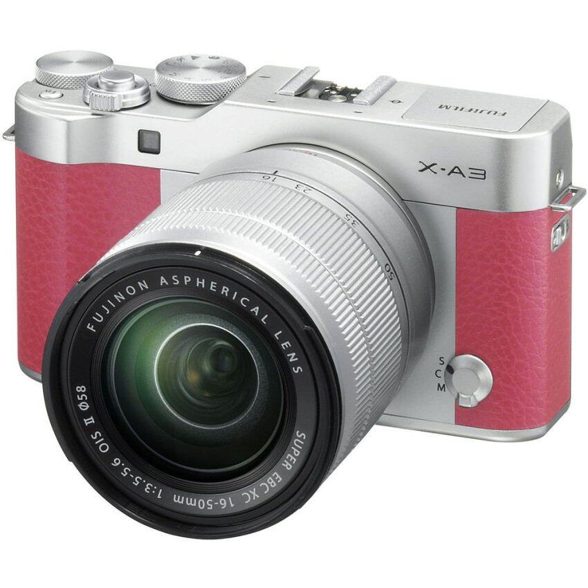ด่วนFujifilm X-A3 Mirrorless 16-50mm Lens (Pink) กำลังลดราคา