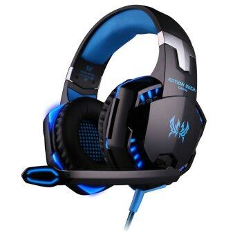 G2000 Gaming Headphone Headset Stereo KOTION EACH Over-ear with Mic for PC Blackblue - intl